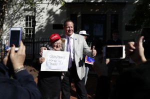 Corey Stewart at protest