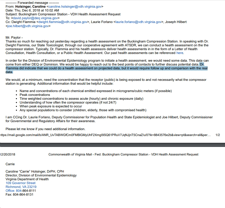 But in a just released email that was sent to Mr. Paylor on December 6, ...