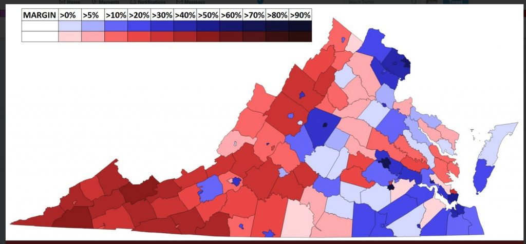 Forecast Maps County By County Virginia Us Senate Election - Us-county-map-election