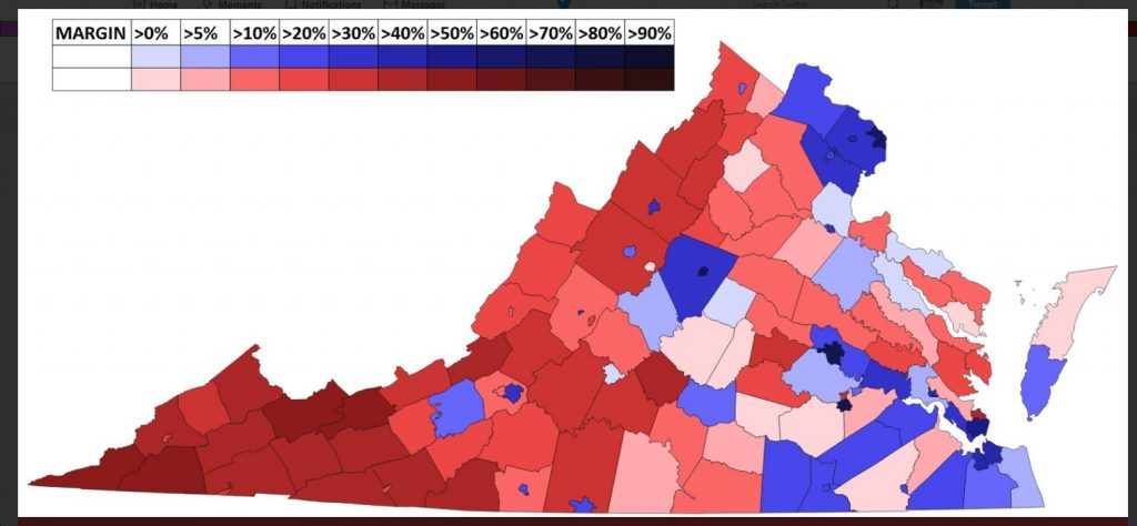 Forecast Maps County By County Virginia Us Senate Election - Us-county-election-map