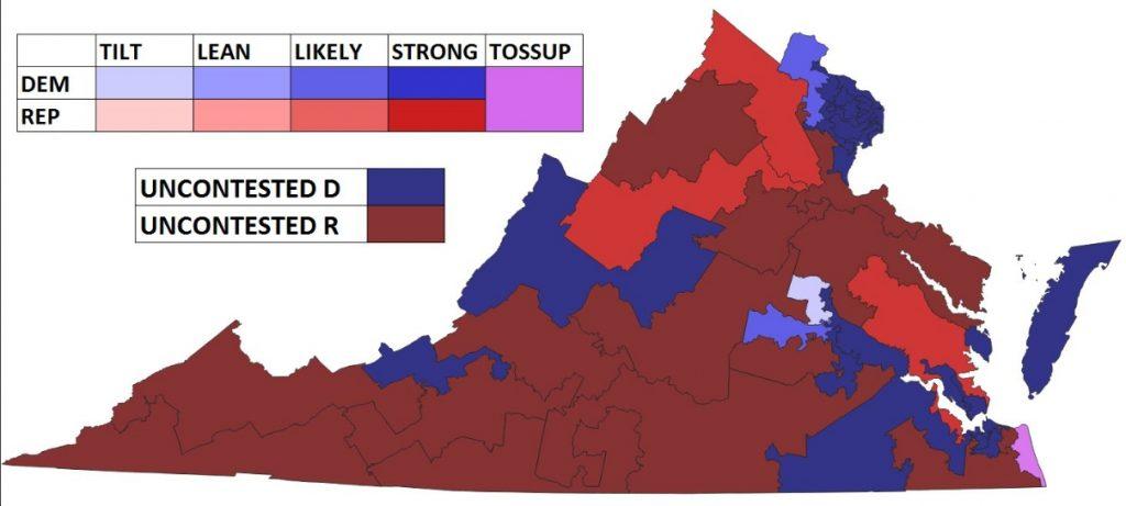 Maps: 2019 Virginia House of Delegates, State Senate Races ...
