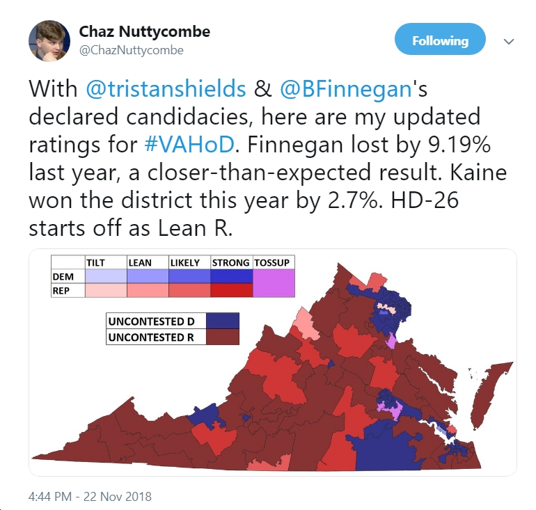 Maps 2019 Virginia House Of Delegates State Senate Races Blue